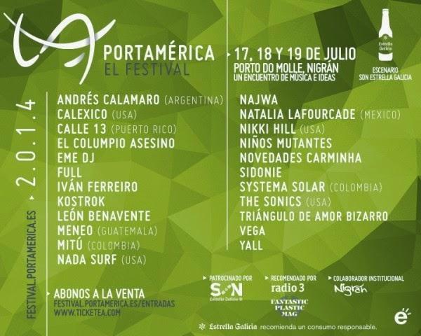 PortAmérica 2014 amplía su cartel musical