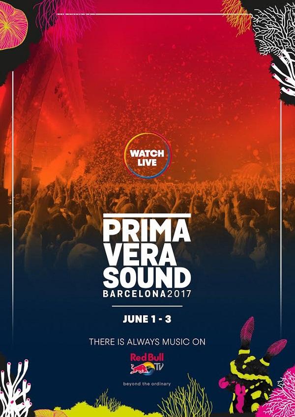 Cartel Primavera Sound Red Bull TV